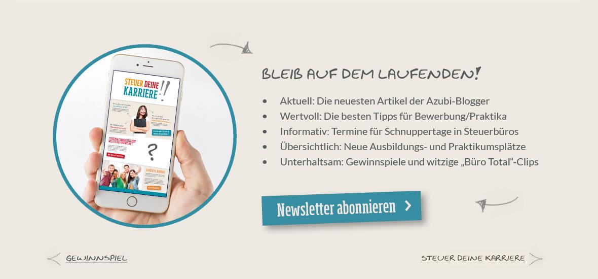 Smartphone mit SteuerDeineKarriere-Seite